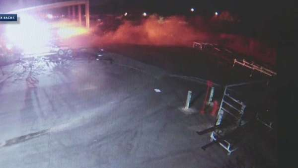 Surveillance video shows California inmate stealing firetruck; taking wild ride in escape attempt