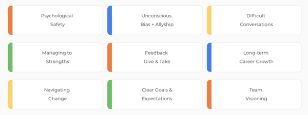 Example workshops from LeaderKit