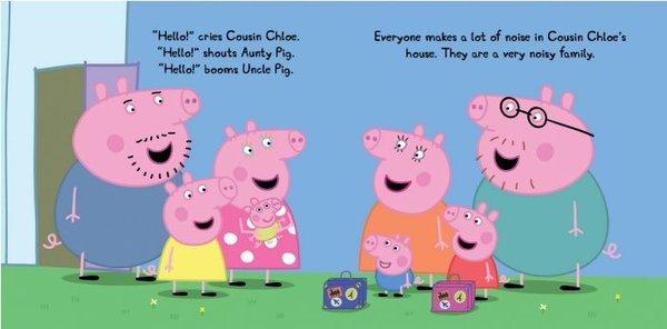Peppa Pig y su familia vistan a Tío Pig por el nacimiento del primo Alexander.