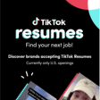 Find A Job with TikTok Resumes