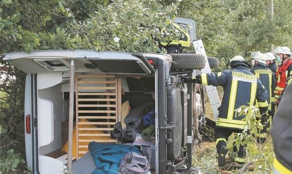 Wohnmobil von Autobahn abgekommen - Heidekreis - Walsroder Zeitung