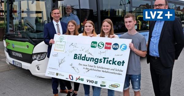 Bildungsticket startet: Für 15 Euro quer durch Sachsen