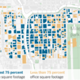 Downtown office areas were vulnerable even pre-pandemic