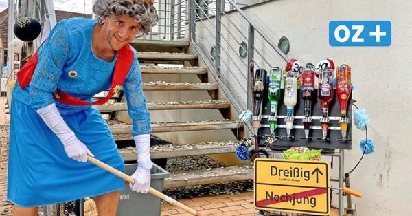 Grevesmühlener muss als Queen verkleidet die Rathausstufen fegen