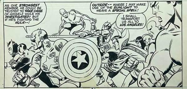 Sal Buscema - Defenders Original Comic Art