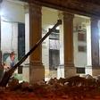 Reportan derrumbe en municipio céntrico de la capital
