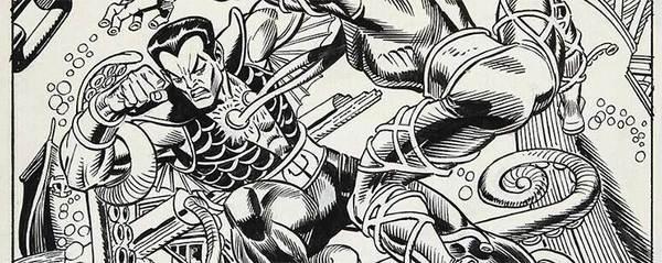 Gil Kane - Namor Original Cover Art