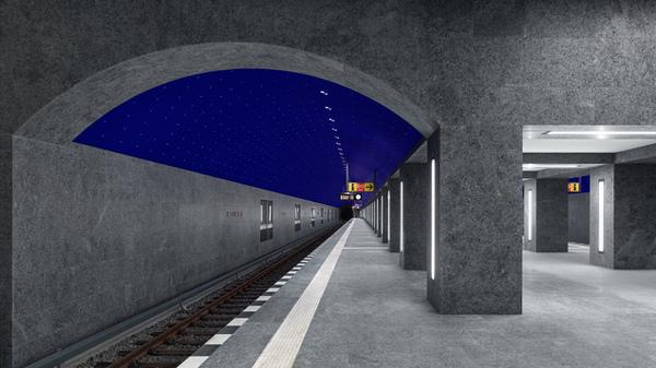 Ein Sternenhimmel im Berliner Untergrund: So sieht der neue U-Bahnhof Museumsinsel aus - Berlin
