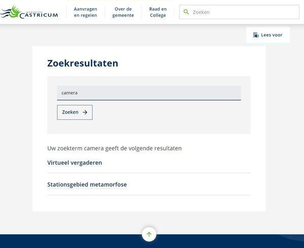 Schermafbeelding www.castricum.nl op 8 juli 2021 door nieuwsuitcastricum.nl