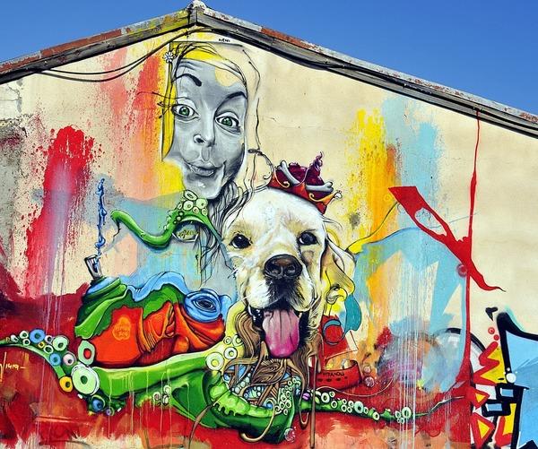 A gorgeous mural