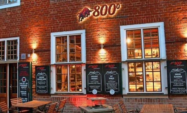 """Das """"800 Grad Prime Beef Steakhouse"""" befindet sich in der Mittelstraße im Holländischen Viertel in Potsdam. Foto: Bernd Gartenschläger"""