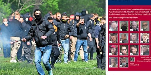 Randale beim Dynamo-Aufstieg: Polizei veröffentlicht erneut 20 Fahndungsfotos