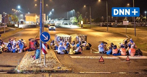 DHL-Blockade in Leipzig: Darum blieben die Flughafen-Aktivisten mehr als 30 Stunden in Haft
