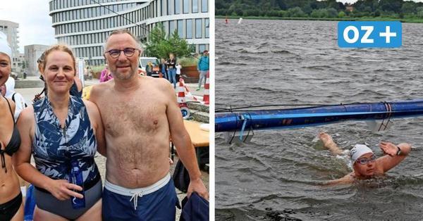 Was dieses Warnowschwimmen in Rostock für die Sportler so beschwerlich machte
