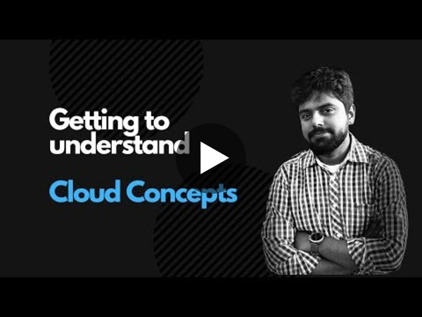 This week, I posted a simple explainer on Cloud Concepts.
