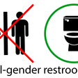 Gender inclusive signage and icons