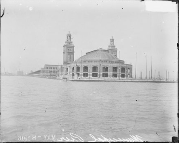 Later renamed Navy Pier, Municipal Pier opened to the public on July 15, 1916. Here is how it looks on May 6, 1916. From the Sun-Times archives.