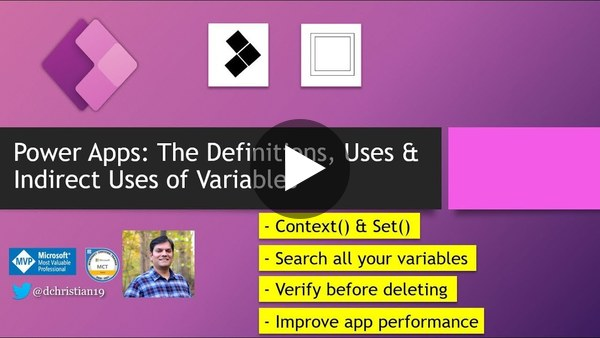 Power Apps: The Definitions, Uses & Indirect Uses of Variables