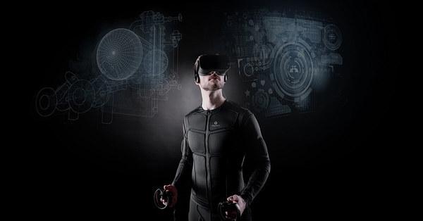 Feel Rain Fall In VR With Full-Body TESLASUIT - VRScout