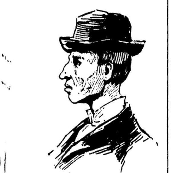 A portrait of Patrick Eugene Prendergast as it appeared in the July 13, 1894 edition of the Chicago Daily News.