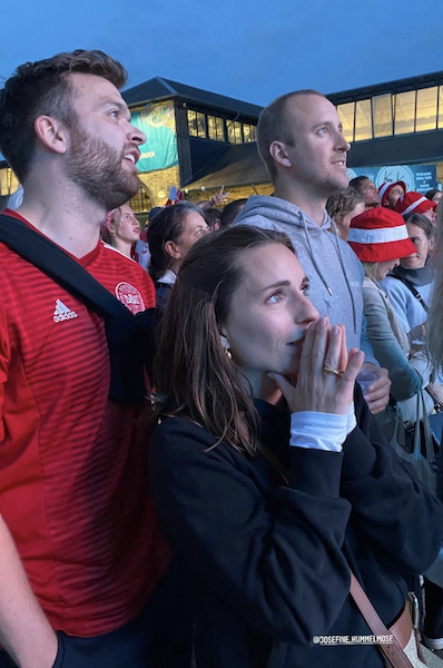 Denmark's Euro 2020 brought out all to the streets under the common belief that the team would live up to the narrative from 1992: That a small nation can win against the football Goliaths. That didn't happen, but it brought patriotism forward. Photo: Josefine Hummelmose.