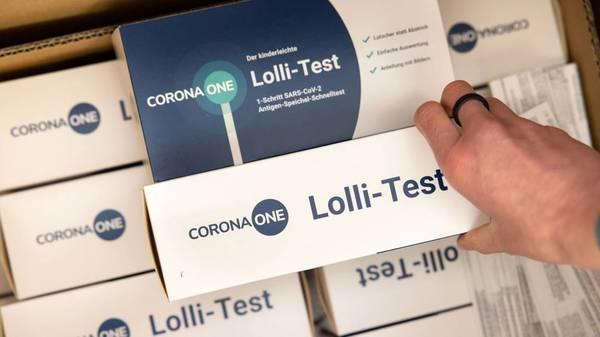 Lolli-Tests in Schulen und Kitas: Spahn und Karliczek fordern Pool-PCR-Testung