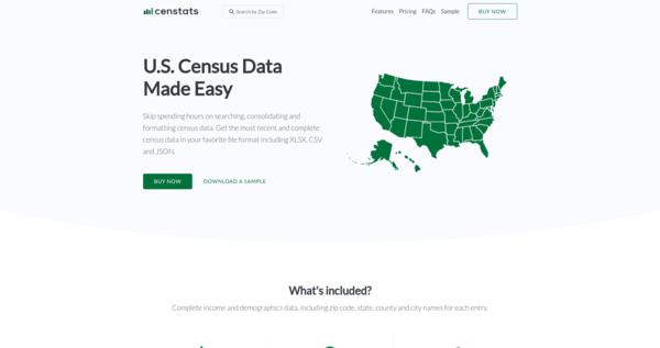 Censtats - U.S. Census Data Made Easy