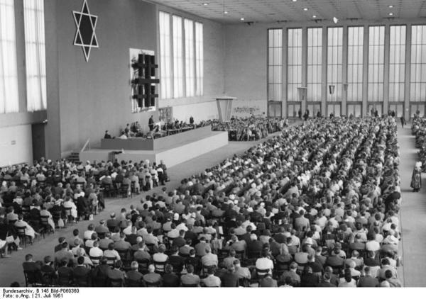 Veranstaltung der AG Juden und Christen beim Berliner Kirchentag am 21.07.1961