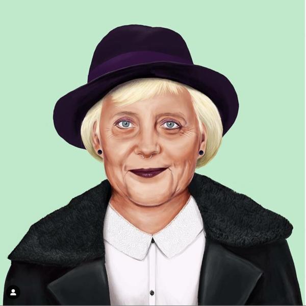 Angela Merkel, gesehen von Amit Shimoni