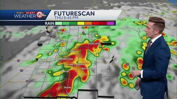 KANSAS CITY WEATHER: Muggy morning with rain chances increasing to evening storm chances