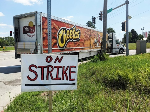 Workers strike for higher wages and less overtime at Topeka Frito-Lay plant
