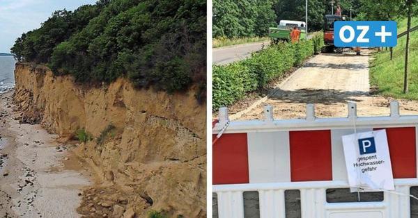Nach Unwetter auf Rügen: Drohnen suchen die Steilküste ab und finden einen Riss