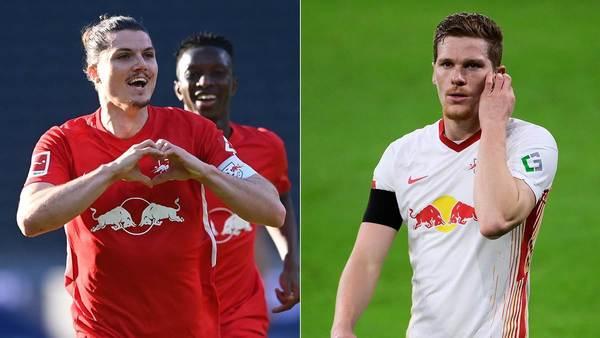 Gehen oder bleiben? Halstenberg und Sabitzer gehören zu RB Leipzigs Unbekannten