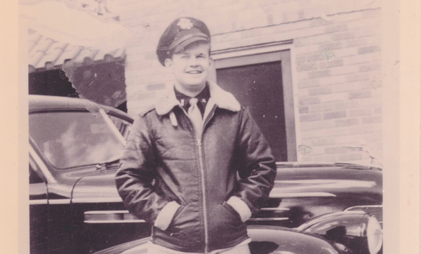 """James """"Bud"""" Wilschke had to eject after his B-17 bomber was fired on during World War II. But he survived and, with help, stayed hidden from the Nazis for six months. He wrote about his wartime ordeal but stashed that in a """"big mystery box"""" that his family didn't discover until after his death.   Provided"""