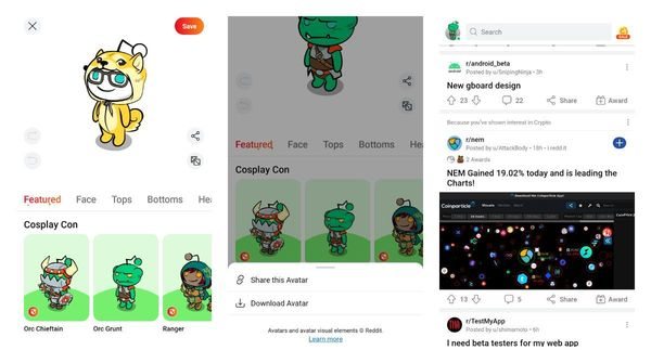 📲 Reddit got new recommendations and allows users to download and share Snoowatars