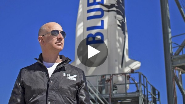 Blue Origin launch with Jeff Bezos and crew -- Watch party