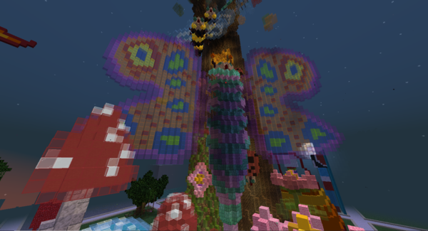 Colored glass is a butterfly's best friend, according to creator Max15032001's forest wildlife