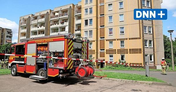 Gasaustritt: Feuerwehr rückt wegen Explosionsgefahr an die Blasewitzer Straße aus