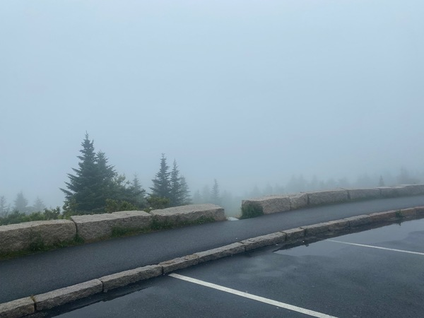 Not much to see of the gorgeous Atlantic Ocean from Cadillac Mountain