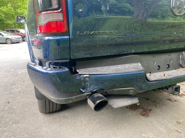 Hit & Run someone backed into my truck and didn't leave a note. $4,000 in damage (see tailgate)