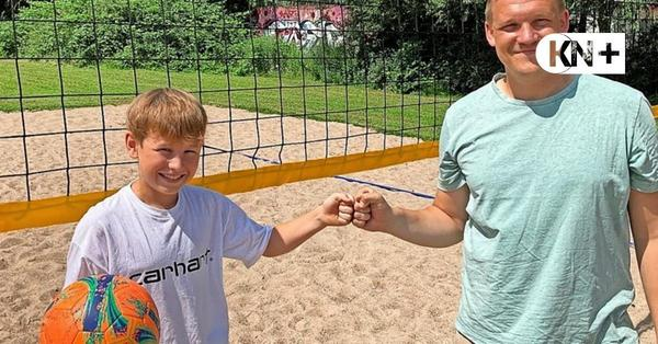 Jugendbeirat Molfsee spendet 1800 Euro für den Bau eines Volleyballfelds