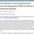 Fit for Women?: Improving Personal Protective Equipment (PPE) for Women Healthcare Workers