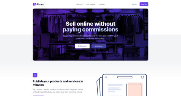 Pizard - Sell online without paying commissions