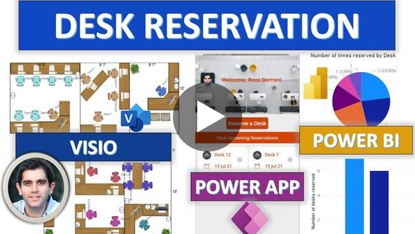 Desk Reservation System using Power Apps, Power BI & Microsoft Visio