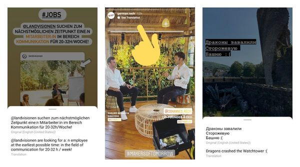 📲 Instagram released Stories translating feature to everyone