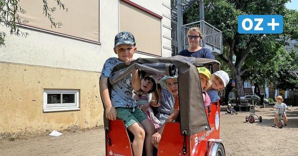 Dank Spendern: Greifswalder Kita kutschiert Kinder mit E-Lastenrädern durch die Stadt