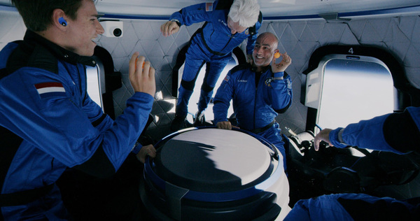 New Shepard crew who flew with Jeff Bezos (not in the picture). Source: Blue Origin