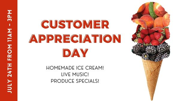 Hancock Family Farm Customer Appreciation Day! Saturday July 24