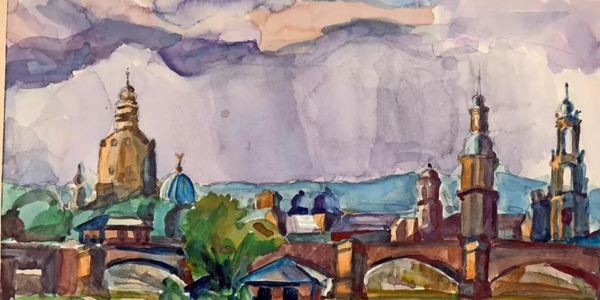 Dresden, wie Kurt Magritz es 1927 malte. (Foto: Privat)
