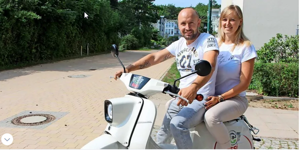 "Usedomer vermieten E-Schwalben: Mietstation am Hotel ""Upstalsboom"""